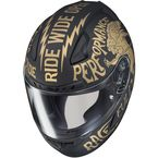Semi-Flat Black/Gold CL-17 Rebel MC-9F Helmet - 850-894