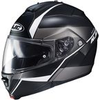 Semi-Flat Black/White IS-Max2 Mine MC-5SF Helmet - 990-754