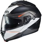 Semi-Flat Black/White IS-Max2 Magma MC-5SF Helmet - 992-754