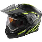 Flat Hi-Vis/Black EXO-CX950 Apex Snow Helmet w/Electric Shield - 45-29136