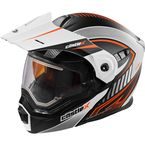 Flat White/Flo Orange EXO-CX950 Apex Snow Helmet w/Electric Shield - 45-29176