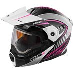 Flat White/Pink EXO-CX950 Apex Snow Helmet w/Electric Shield - 45-29186
