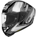 Black/Silver/White X-Fourteen Assail TC-5 Helmet - 0104-1105-06