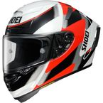 White/Red/Black X-Fourteen Rainey TC-1 Helmet - 0104-1401-06
