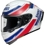 White/Red/Blue X-Fourteen Lawson TC-1 Helmet - 0104-1501-06