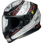 Matte Black/White/Red RF-1200 Vessel TC-5 Helmet - 0109-2405-06