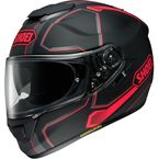 Matte Black/Gray/Red GT-Air Pendulum TC-1 Helmet - 0118-2001-06