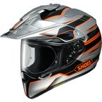 Silver/Black/Orange Hornet X2  Navigate TC-8 Helmet - 0124-1208-05
