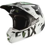 White/Black/Green Union V2 SE Helmet - 20597-129-L