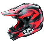 Red/Black/Dark Red VX-4 Pro 4 Dazzle Helmet - 807443