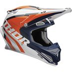Navy/Orange Sector Ricochet Helmet - 0110-5168