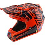 Youth Orange/Black Factory SE4 Helmet - 112008704