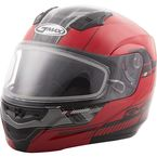 Red/Black MD04 Quadrant Modular Snow Helmet w/Dual Lens Shield - G2041206 TC-1
