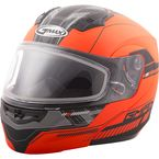 Flat Hi-Vis Orange/Black MD04 Quadrant Modular Snow Helmet w/Dual Lens Shield - G2041696 TC-26
