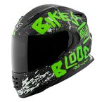 Green/Black Bikes Are In My Blood SS1310 Helmet - 1111-0601-4654