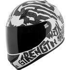 White/Black Rage With The Machine SS700 Helmet - 1111-0602-2253