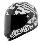 Black/White Rage With The Machine SS700 Helmet - 1111-0602-2053