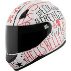 Matte White/Red Hell's Belles SS700 Helmet - 1111-0603-0954