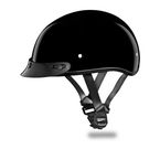 Youth Black Skull Cap Half Helmet - CD1-A-L