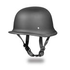 Dull Black German Half Helmet - G1-B-L