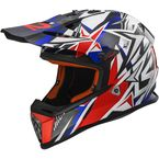 Youth Red/White/Blue  Fast Mini Helmet - 437-6004