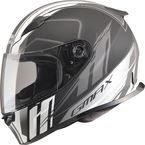 Matte Black/Silver/White FF49 Rogue Street Helmet - G7493436 F.TC-15