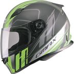 Matte Black/Hi-Vis Green/Silver FF49 Rogue Street Helmet - G7493676 F.TC-23