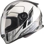 White/Silver/Black FF49 Rogue Street Helmet - G7493246 TC-5