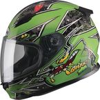 Youth Black/Green GM49Y Alien Street Helmet - G7496221 TC-3