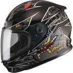 Youth Black/Silver GM49Y Alien Street Helmet - G7496242 TC-5