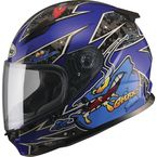 Youth Black/Blue GM49Y Alien Street Helmet - G7496212 TC-2