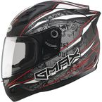 Matte Black/Silver/Red GM69 Mayhem Helmet - G7693205 TC-1