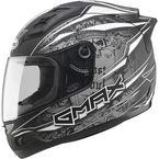 Matte Black/Silver/White GM69 Mayhem Helmet - G7693456 TC-17
