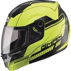 Hi-Viz Yellow/Black MD04 Modular Street Helmet - G1041686 TC-24