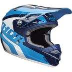 Blue/White Youth Sector Richochet Helmet - 0111-1089