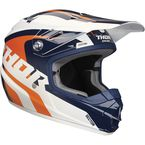 Blue/Orange Youth Sector Richochet Helmet - 0111-1092