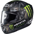 Semi-Flat Black RPHA-11 Pro Monster Energy Military Camo MC-4 Helmet - 1668-755