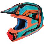 Blue/Orange FG-MX Piston MC-4 Helmet - 362-944