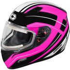 Pink Mugello Maker Snow Helmet w/Electric Shield - 36-20386