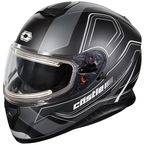 Matte Black Thunder 3 SV Trace Snow Helmet w/Electric Shield - 36-21456
