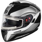 White Atom SV Tarmac Modular Snow Helmet w/Electric Shield - 36-23308