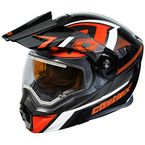 Black/Red EXO-CX950 Slash Snow Helmet w/Electric Shield - 45-29216