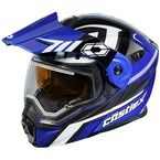 Blue/Black EXO-CX950 Slash Snow Helmet w/Electric Shield - 45-29226