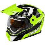 Hi-Vis/Black EXO-CX950 Slash Snow Helmet w/Electric Shield - 45-29238
