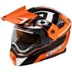 Flo Orange/Black EXO-CX950 Slash Snow Helmet w/Electric Shield - 45-29276