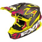 Black/Electric Pink/Hi-Vis Blade Carbon Vertical Helmet - 180601-9465-13