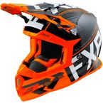 Black/Orange/White Boost Clutch Helmet - 180606-1030-07