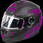 Black/Wineberry/Charcoal Fuel Modular Elite Helmet w/Electric Shield - 170624-1085-07