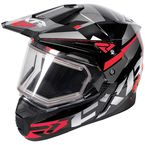 Black/Red/Charcoal FX-1 Team Helmet w/Electric Shield - 180609-1020-13