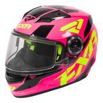Youth Fuchsia/Hi-Vis/Black Nitro Core Helmet - 170662-9065-10